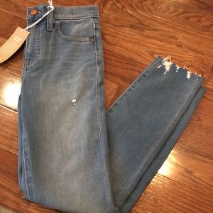 Madewell high rise begging size 24